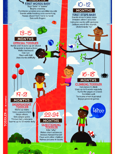 Growing Baby Milestones Infographic