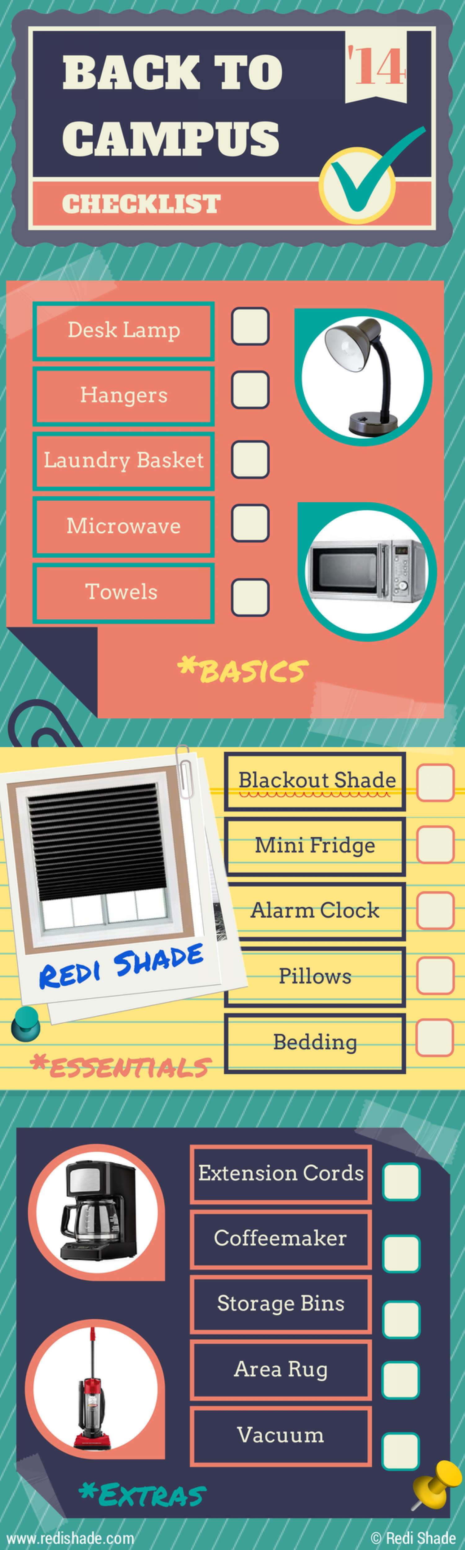 Back to Campus Checklist Infographic Infographic