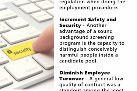 Background Checks and it's Benefits Infographic