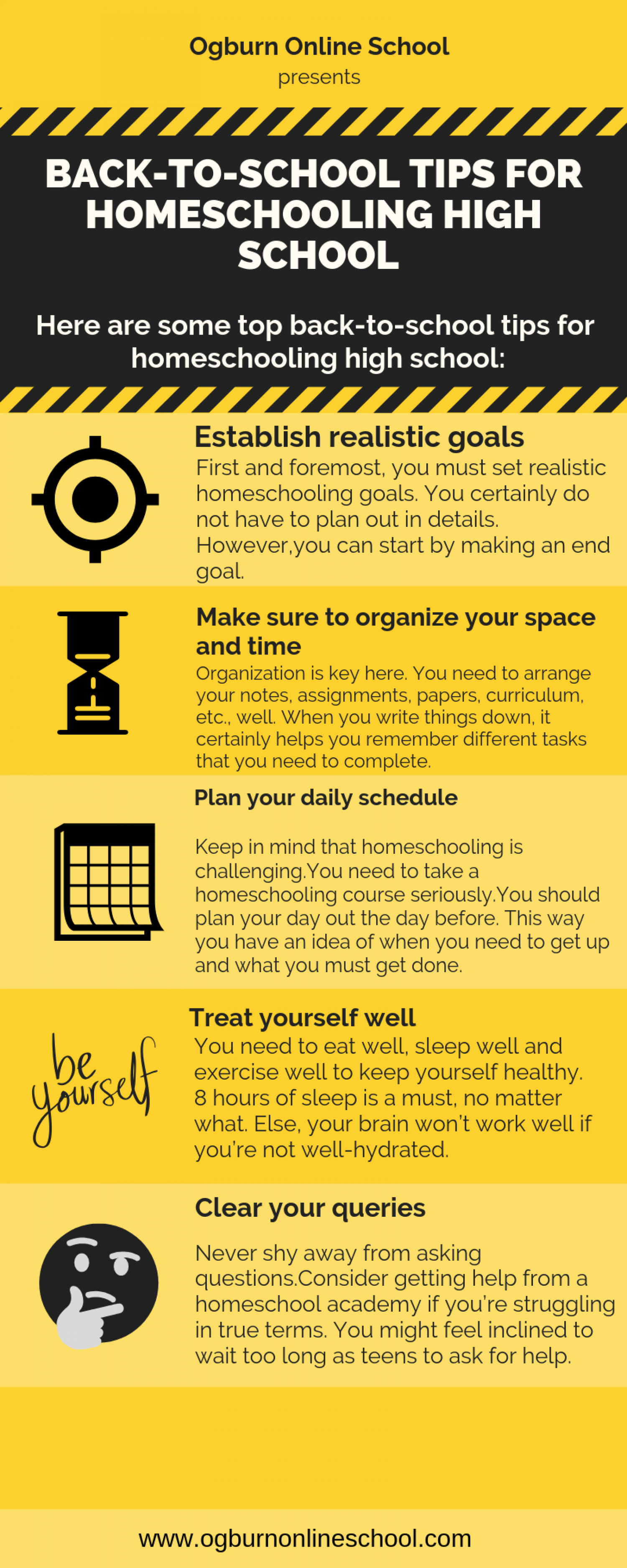 Back-to-school Tips for Homeschooling High School Infographic