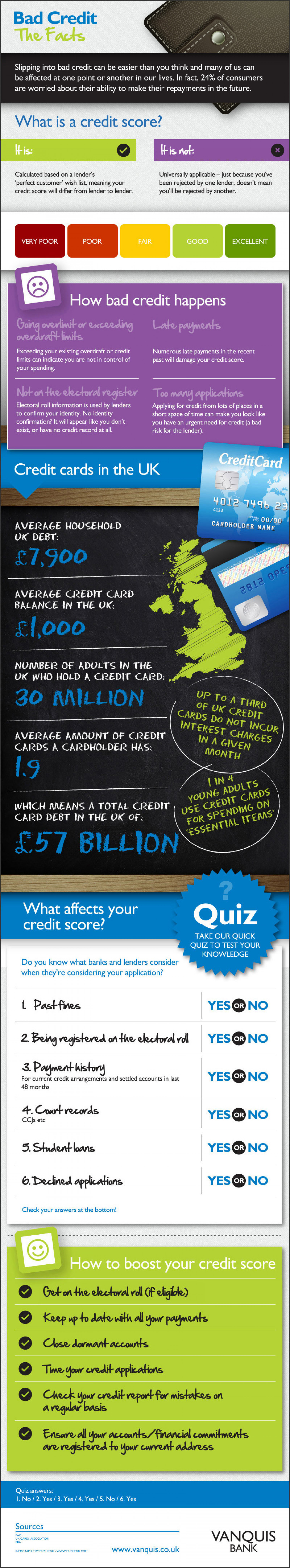 Bad Credit - The Facts Infographic
