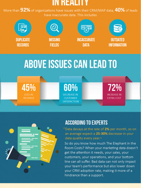 Bad Data Impacts Your ROI Infographic