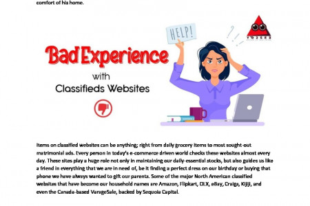 Bad Experiences with Classified Websites Infographic