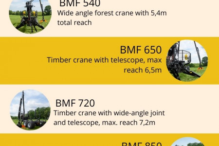 Baltic Machine Factory - Forest Cranes Infographic