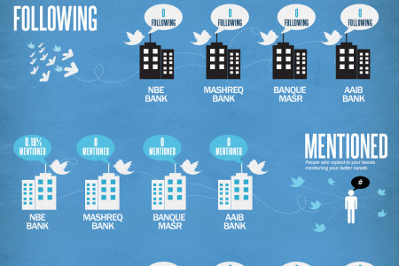 Banks Insights on Social Media Platforms Infographic