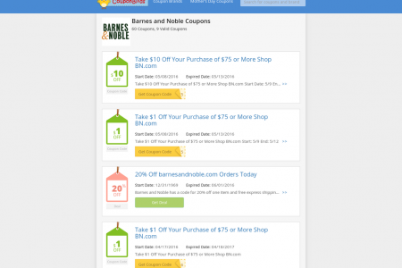 barnes and noble coupons Infographic