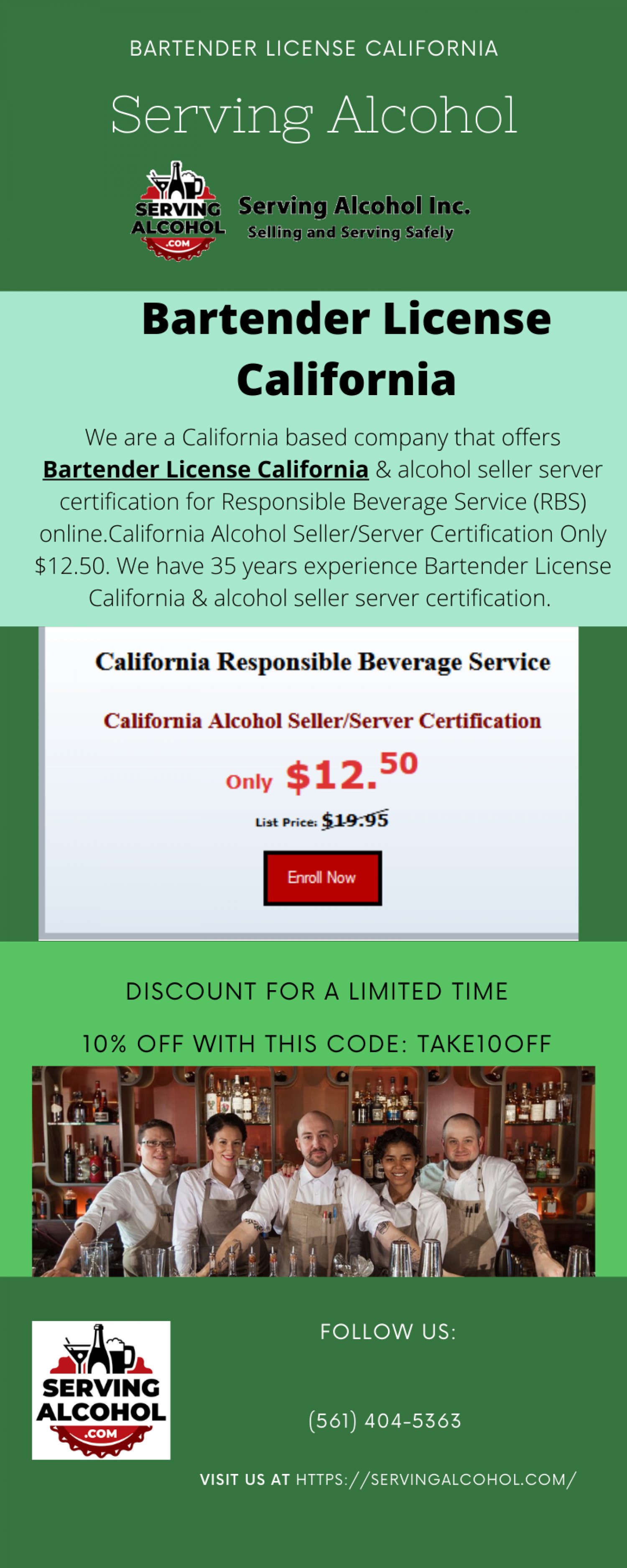 Bartender License California Infographic