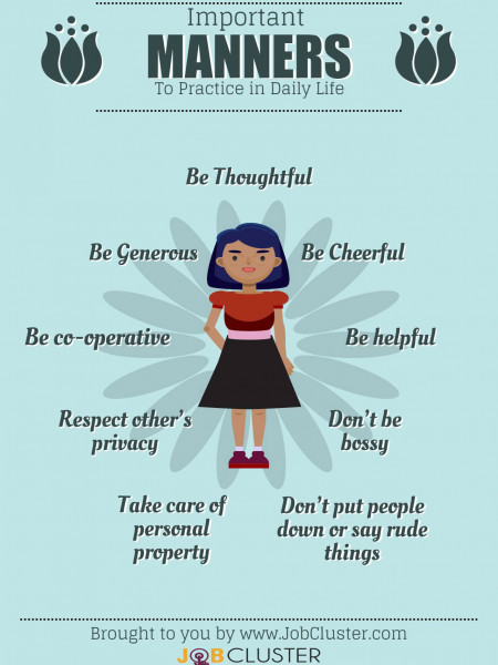 Basic Good Manners to Practice Daily Infographic