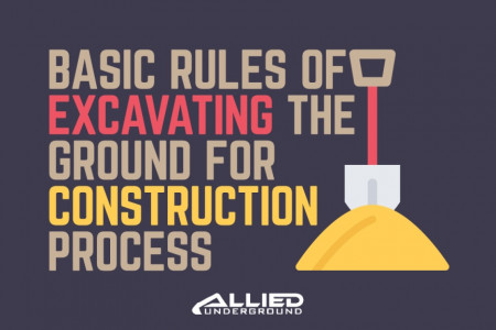 Basic Rules of Excavating the Ground for Construction Process Infographic