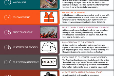Basic Safety Tips of Boating Accident. Infographic