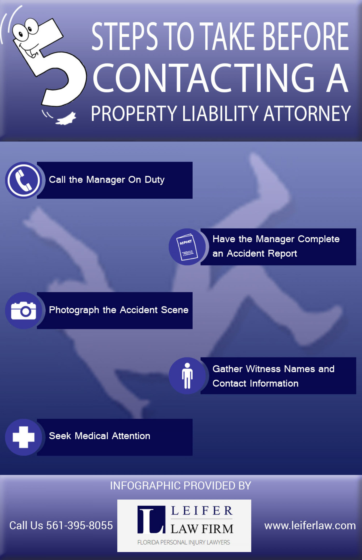 Basic Steps to Take Before Contacting a Property Liability Attorney Infographic