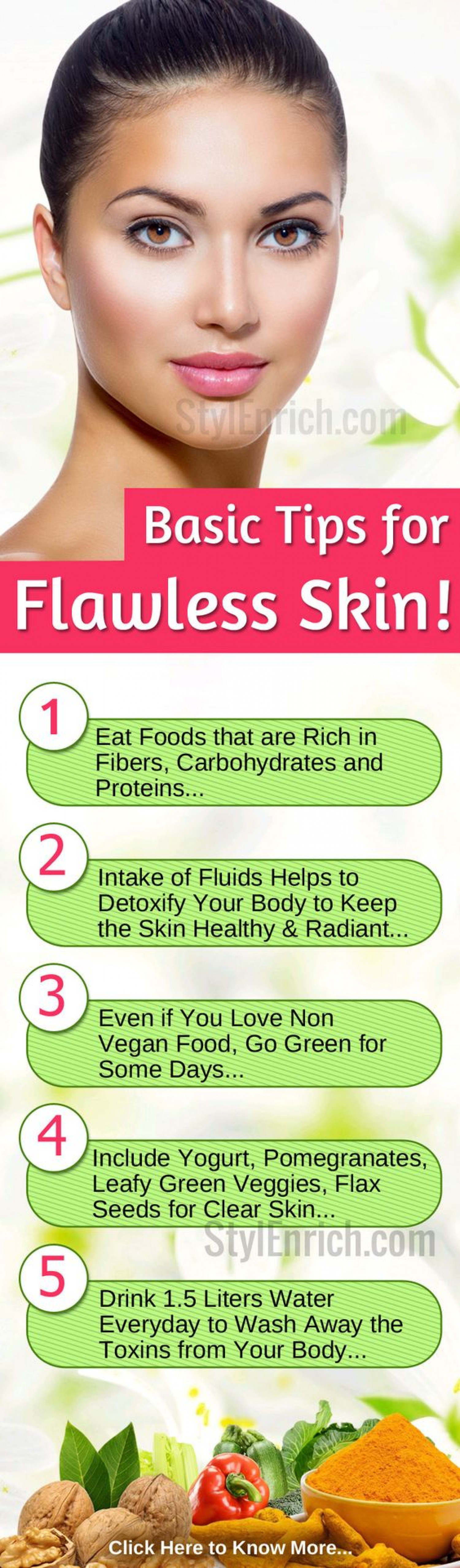 Basic Tips for Flawless Skin  Visual.ly