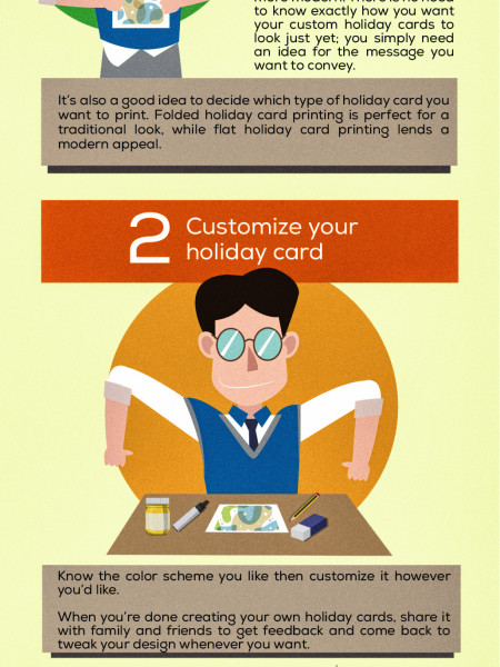 Basics steps on how to design your own stickers or cards Infographic