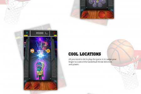 Basketball Tosses Stars | Real 3D Simulator Infographic