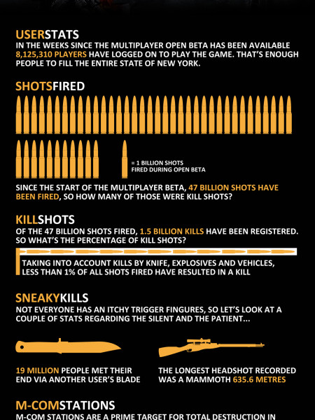 Battlefield 3 Multiplayer Open Beta Statistics Infographic