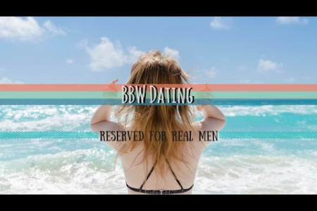BBW Dating is Reserved for Real Men Infographic