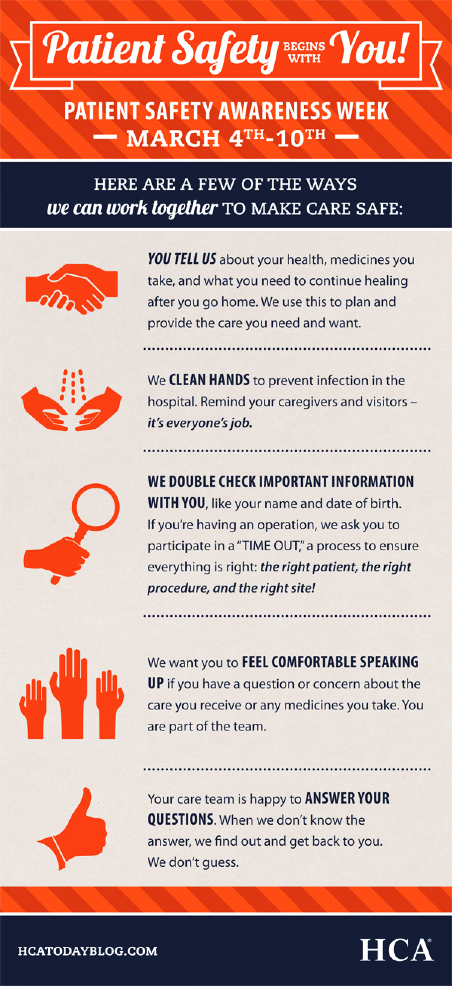 Be Aware for Safe Care Infographic