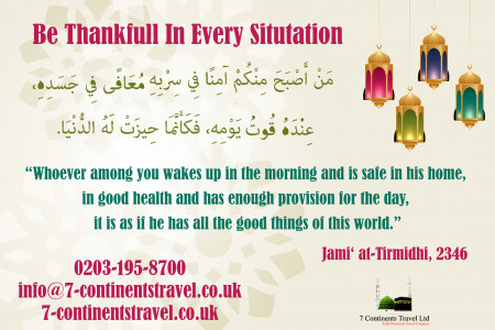 Be Thankfull In Every Situtation Infographic