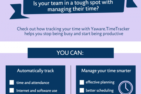 Beat the worst productivity stereotype with a time tracking application  Infographic