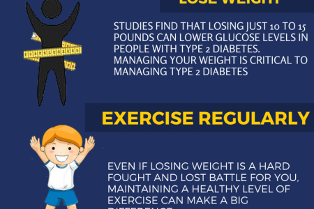 Beat Type 2 Diabetes with these 5 tips Infographic