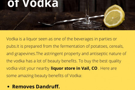 Beauty Benefits of Vodka Infographic