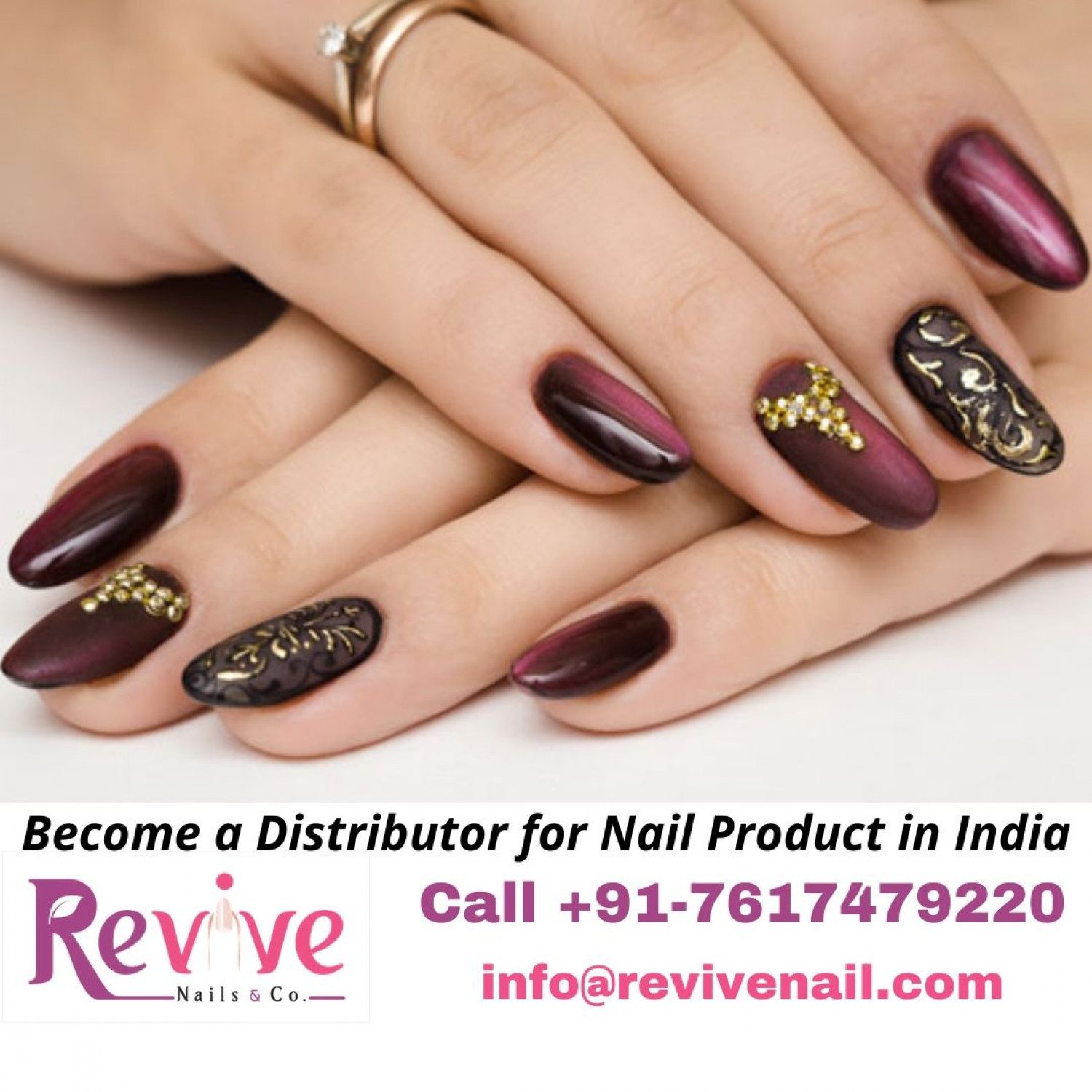 Become a Distributor for Nail Product in India Infographic