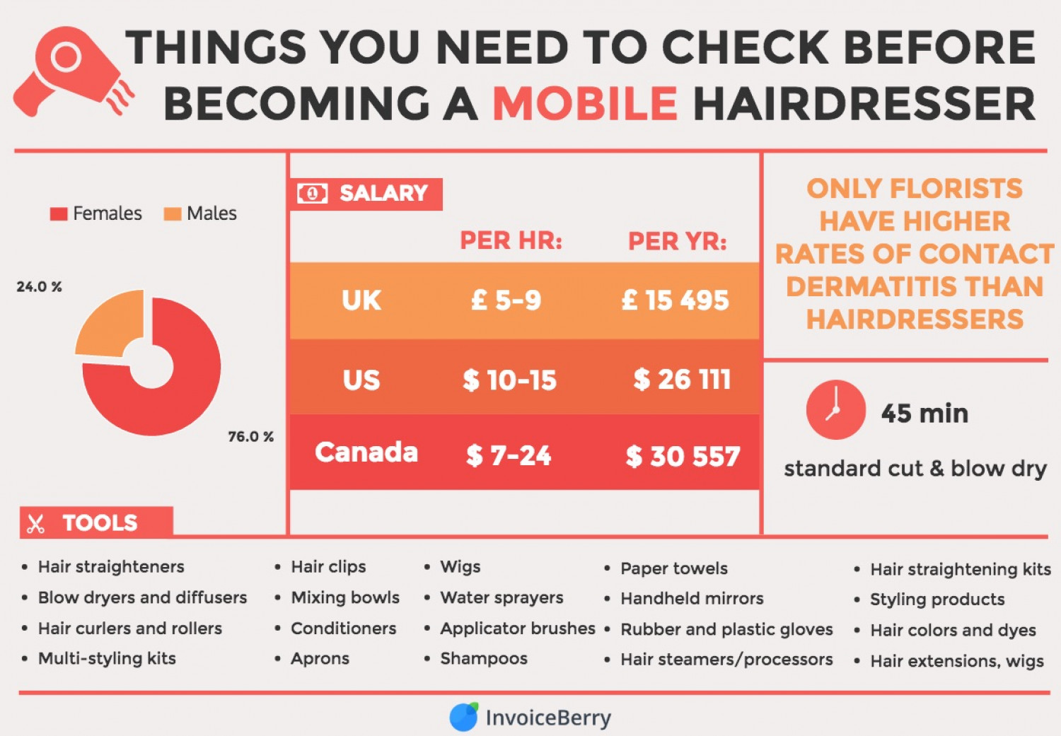 Becoming a Mobile Hairdresser Infographic