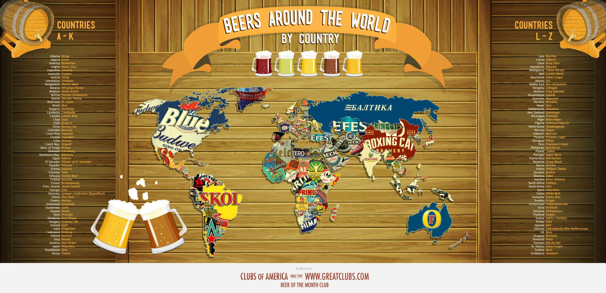 Beers of the world map visual gumiabroncs Images
