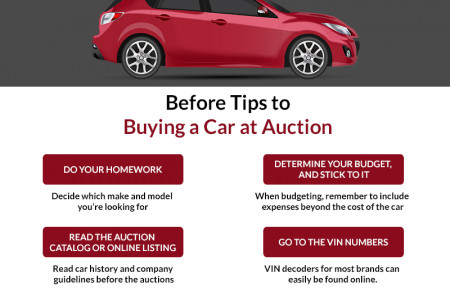 Before Tips to Buying a Car at Auction Infographic