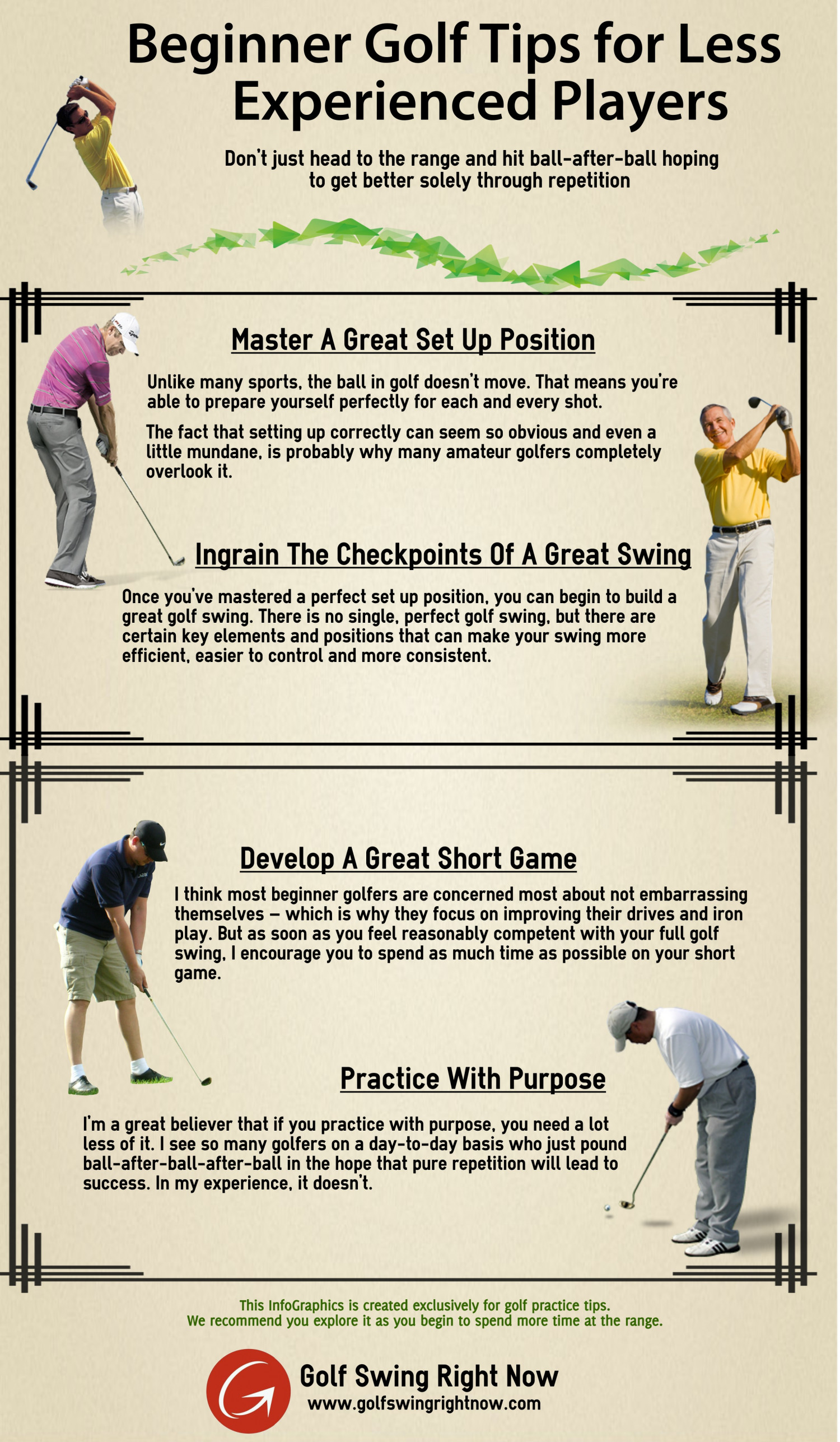 Beginner Golf Tips for Less Experienced Players Infographic