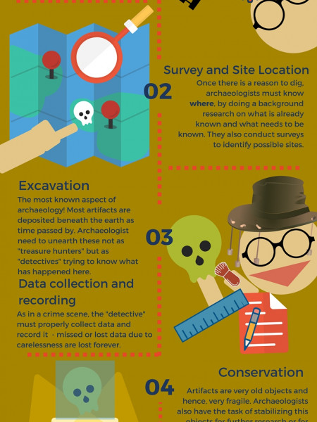 Being an Archaeologist Infographic