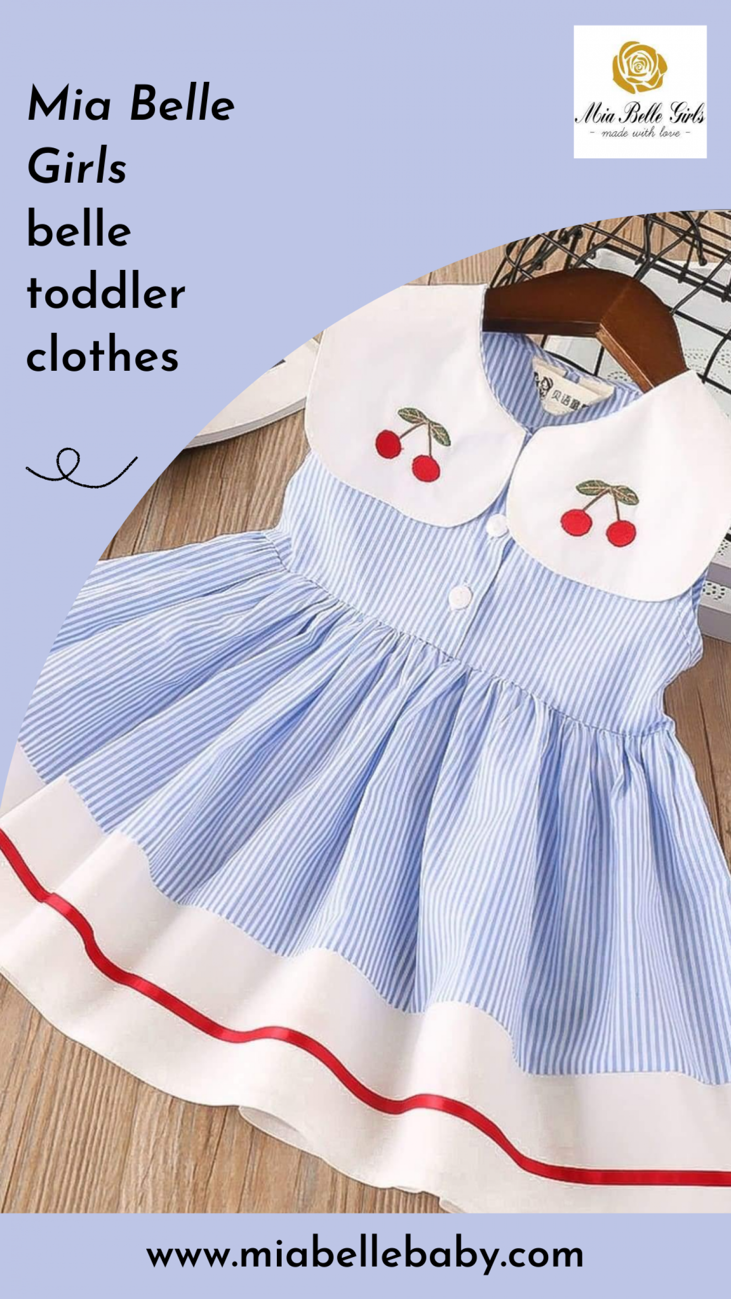 Belle toddler clothes - Mia Belle Girls Infographic