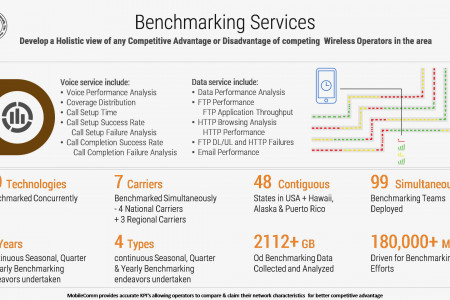 Benchmarking Services By MCPS Inc. Infographic