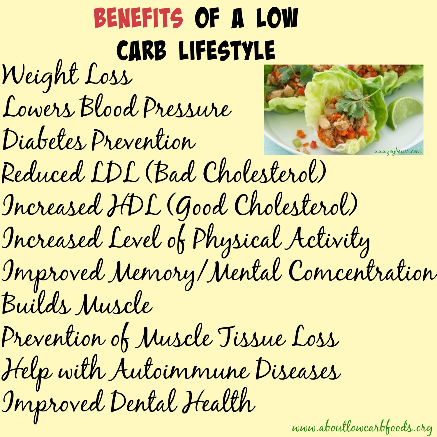 what benefits for a low carb diet