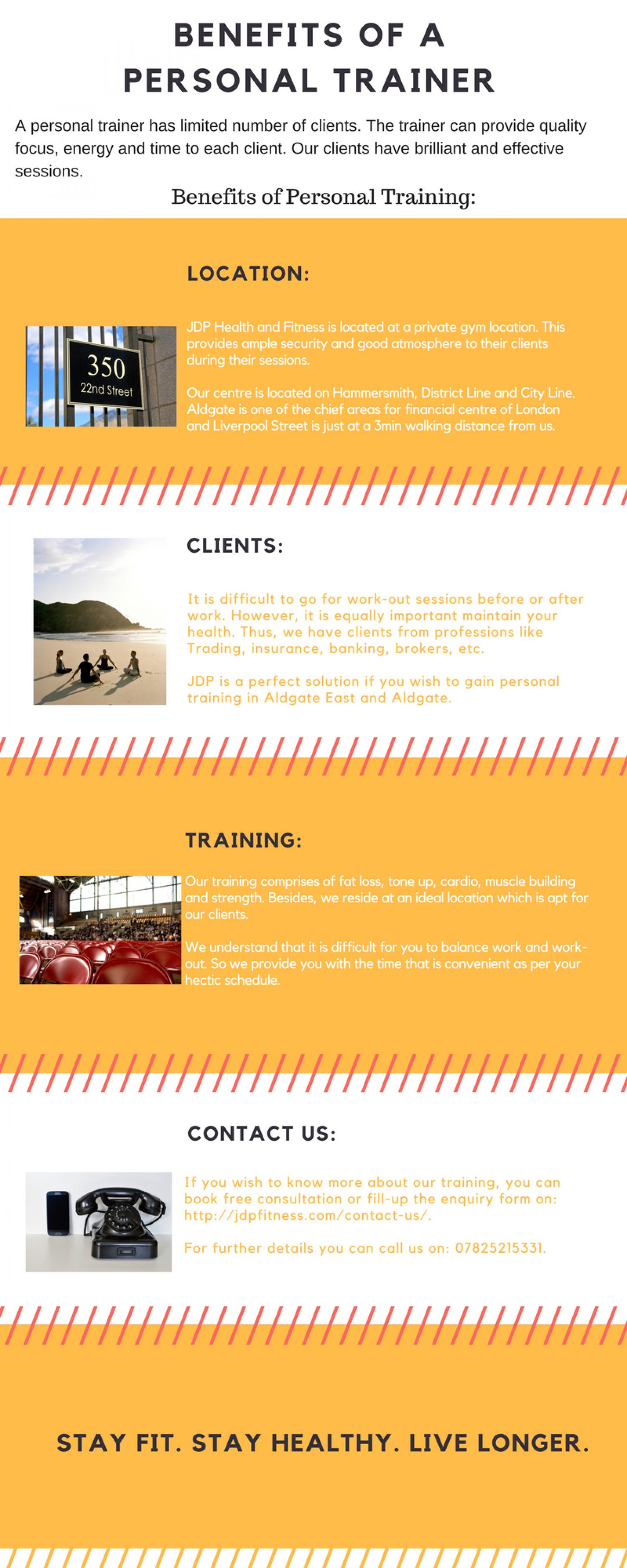 Benefits of a Personal Trainer Infographic