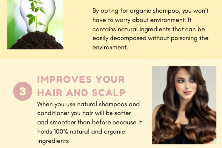Benefits of applying organic and natural shampoo on your hair Infographic