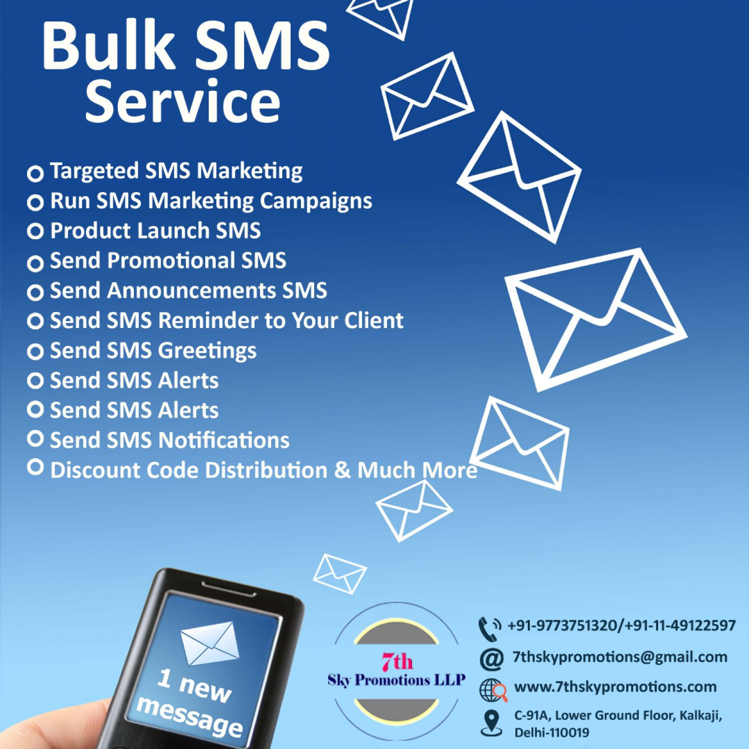 Benefits of Bulk SMS Marketing Infographic