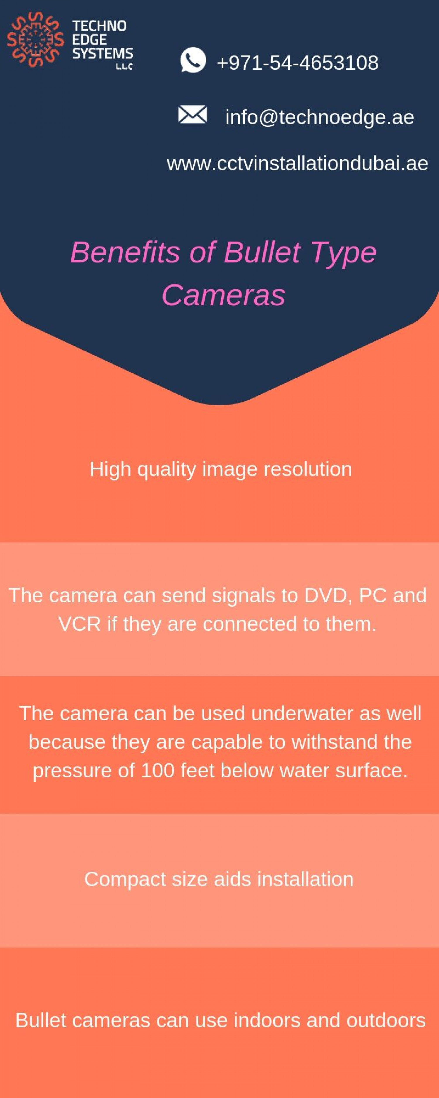 Benefits of Bullet Type Cameras Infographic