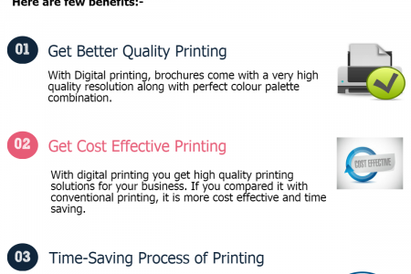 Benefits of Choosing Digital Printing Service for Brochures Infographic
