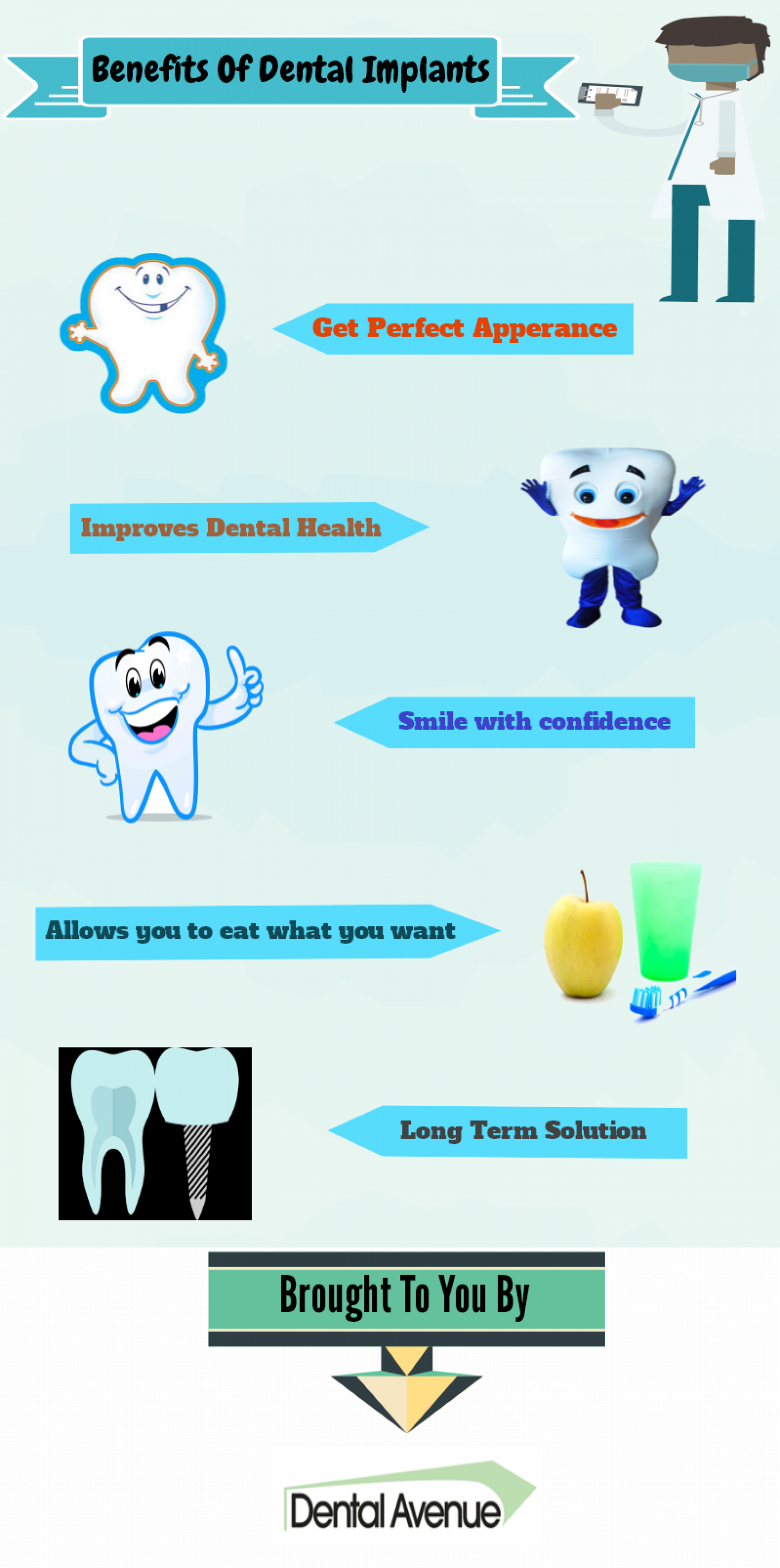 Benefits of Dental Implants Infographic