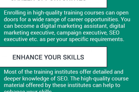 Benefits of Enrolling in SEO Training Courses Infographic