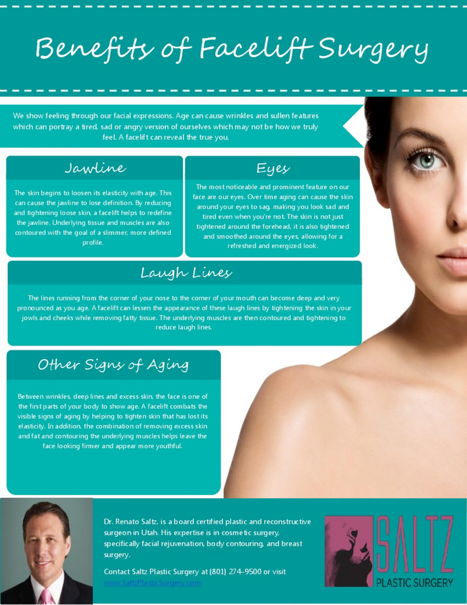 Benefits of Facelift Surgery Infographic