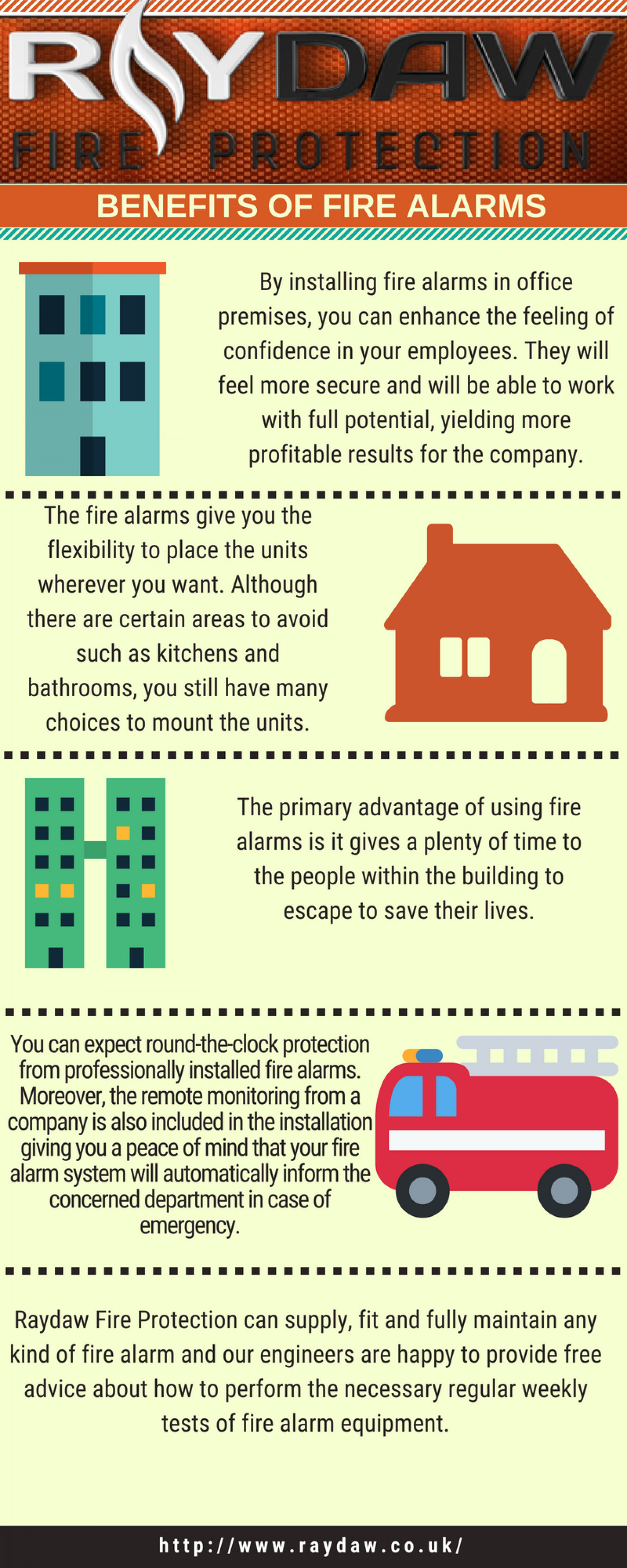 Benefits of Fire Alarms Infographic
