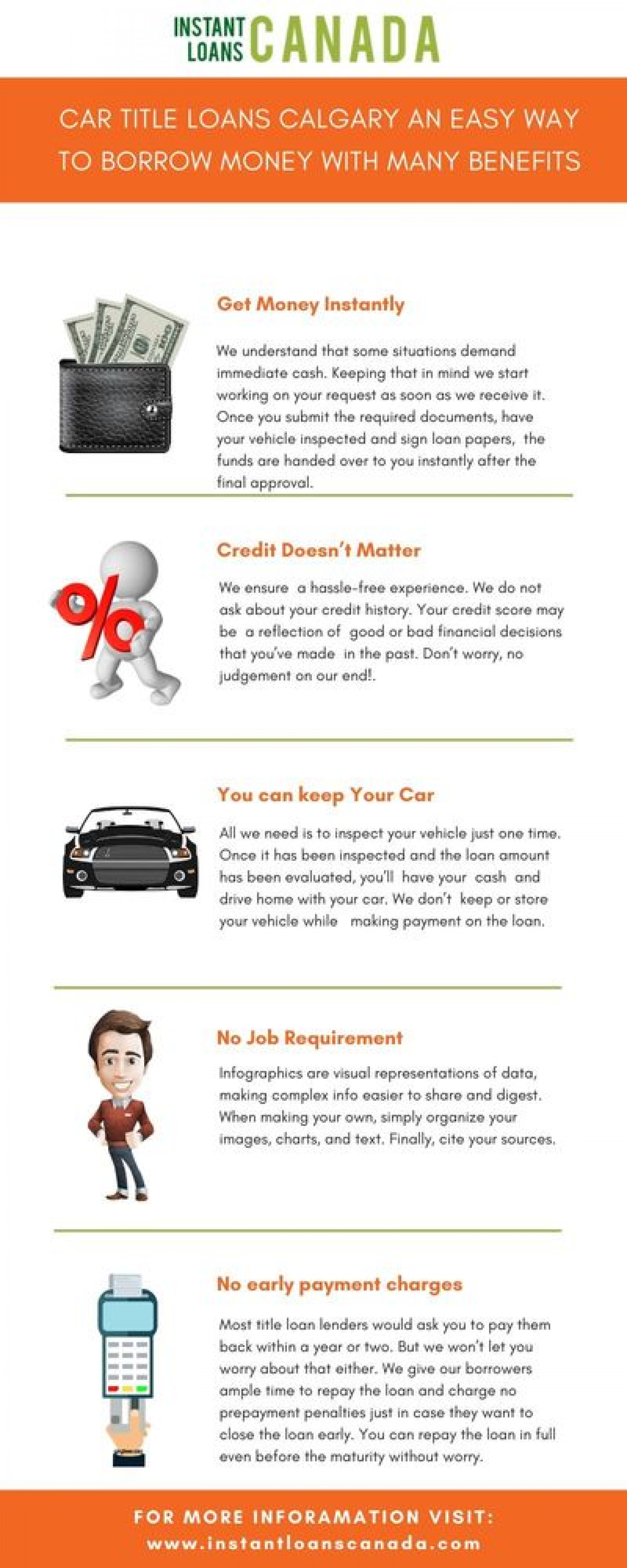 Benefits of getting Car Title Loans in Calgary  Infographic
