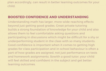 Benefits of hiring a good math tutor for your child Infographic