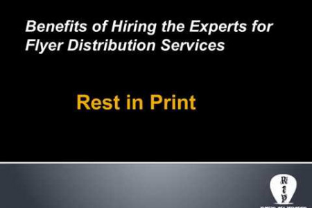 Benefits of Hiring the Experts for Flyer Distribution Services Infographic