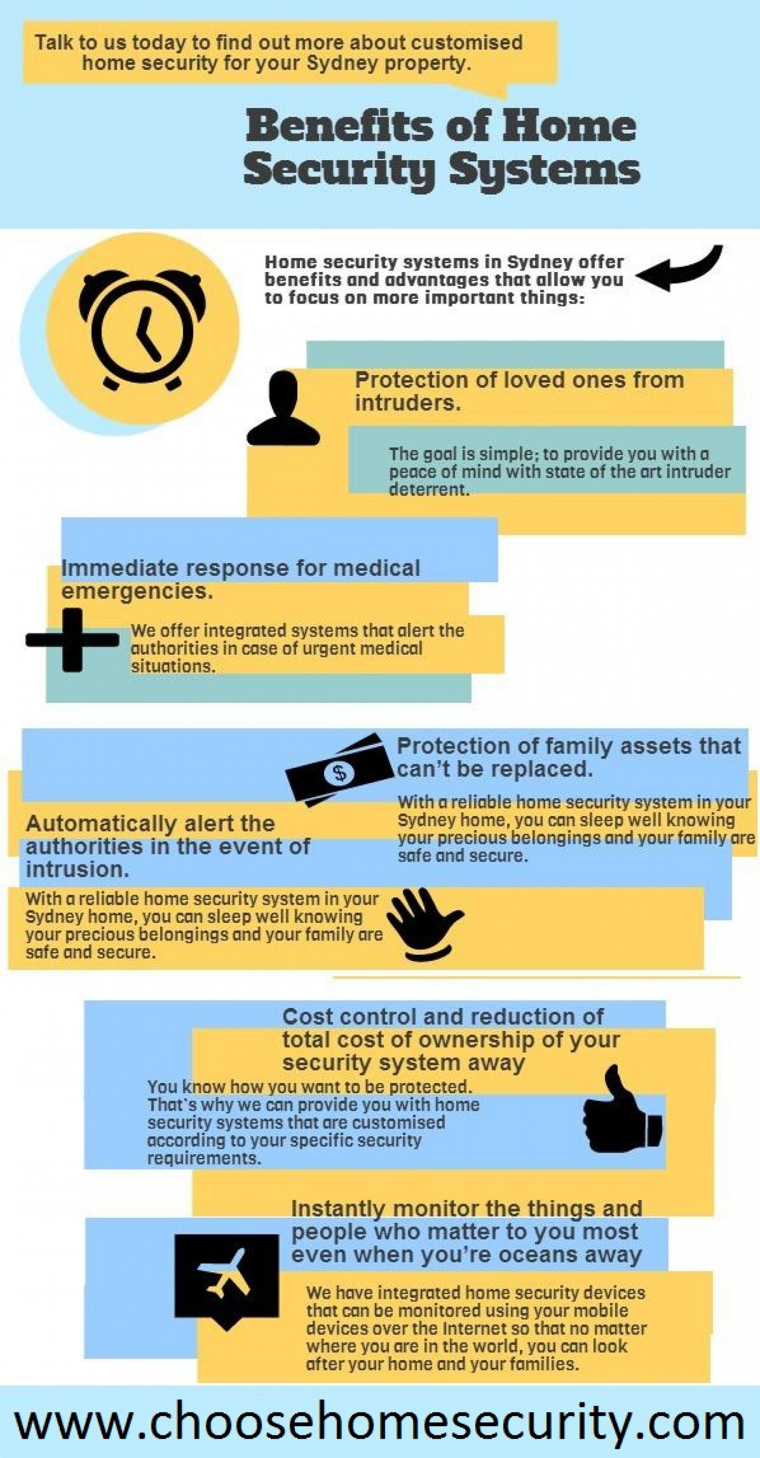 Benefits of Home Security Systems Infographic