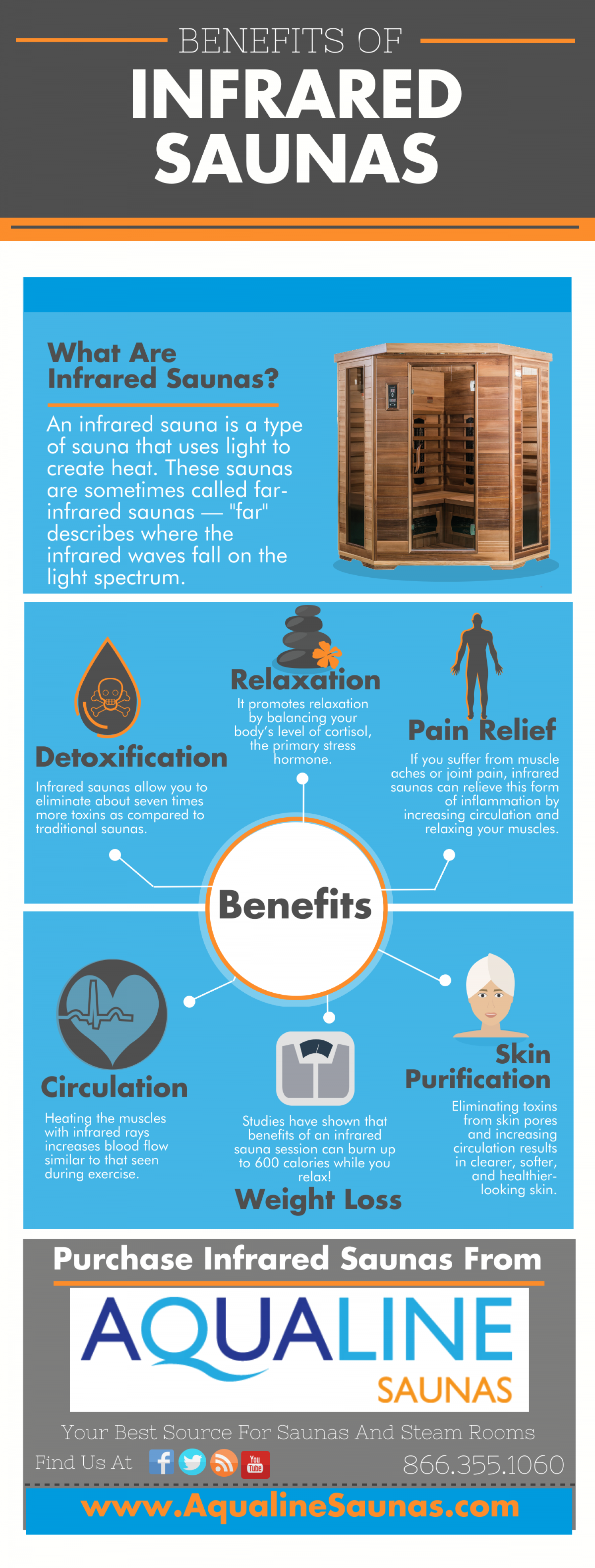 Benefits of Infrared Saunas Infographic
