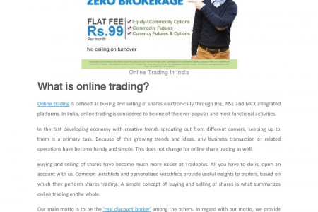 Benefits Of Online Share Trading Infographic