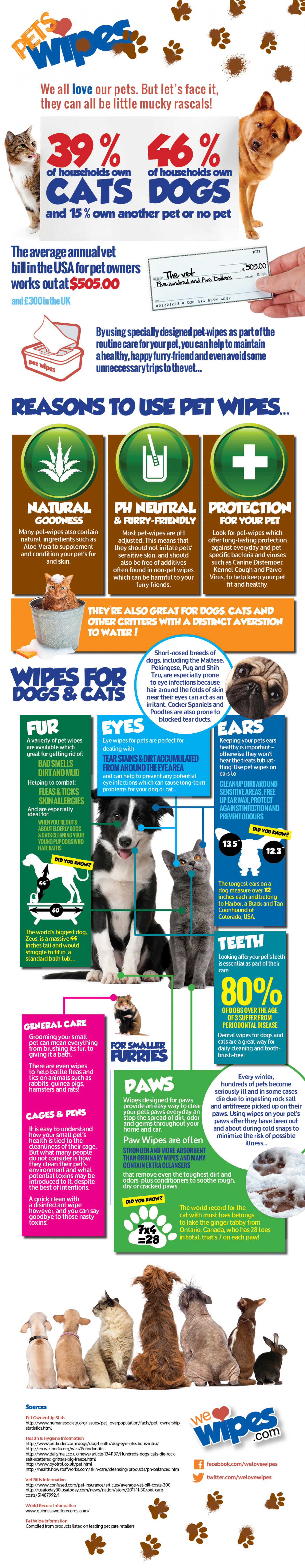 Benefits of Pet Wipes Infographic